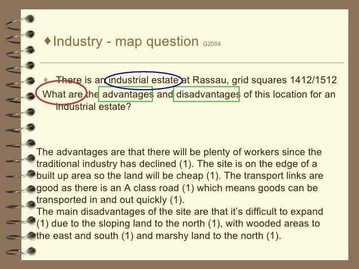 <ul><li>Industry - map question  G2004 </li></ul><ul><li>There is an industrial estate at Rassau, grid squares 1412/1512 <...
