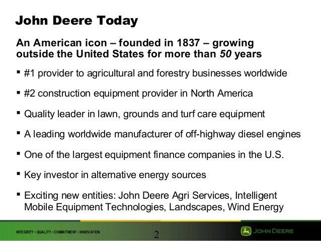John deere research paper