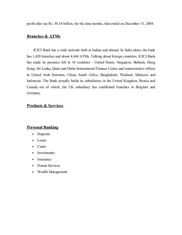 Complaint Letter Format Icici Bank.  42 profit Comparitive analysis of sbi bank and icici