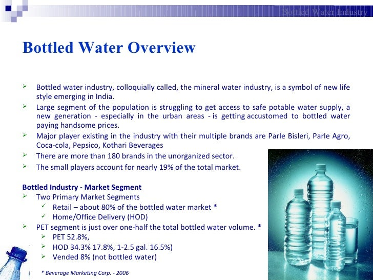 pricing strategy of a new brand of bottled water Marketing plan for indian bottled water to be planning to extend its bottled water brand by a combination of competitive pricing strategies.