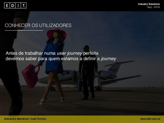 Industry Sessions Sep - 2016 Alexandre Marreiros / José Ferreira www.edit.com.pt CONHECER OS UTILIZADORES Antes de trabalh...