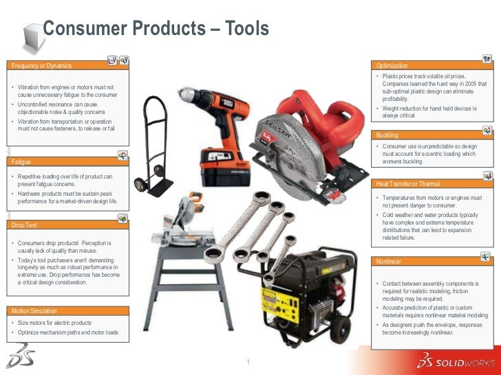 Consumer Products – Tools                                                     Frequency or Dynamics                       ...