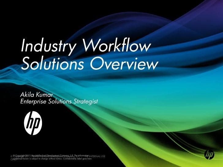 © © Copyright2011 Hewlett-Packard Development Company, L.P. The information INTERNAL USE  Copyright 2011 Hewlett-Packard D...