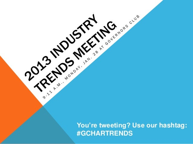 You're tweeting? Use our hashtag:#GCHARTRENDS