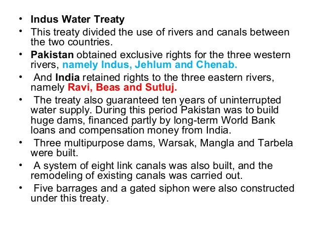 the indus water treaty Indus waters treaty 379 likes the indus waters treaty is a water-distribution treaty between india and pakistan, brokered by the world bank.