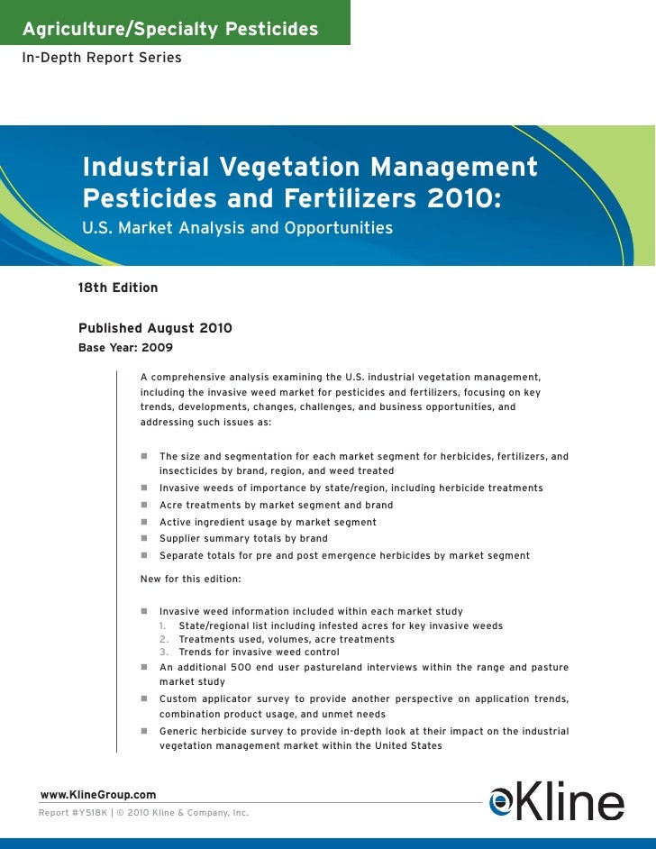 Agriculture/Specialty PesticidesIn-Depth Report Series           Industrial Vegetation Management           Pesticides and...