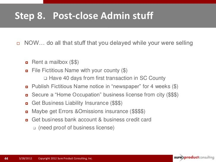 Step 8. Post-close Admin stuff        NOW… do all that stuff that you delayed while your were selling            Rent a ...