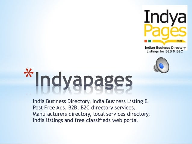 India business directory list, India business list, India Business Di…