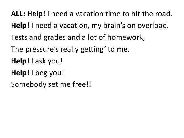 I Need a Vacation Lyrics