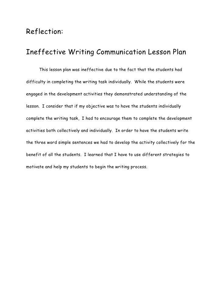 ineffective writing communication lesson plan
