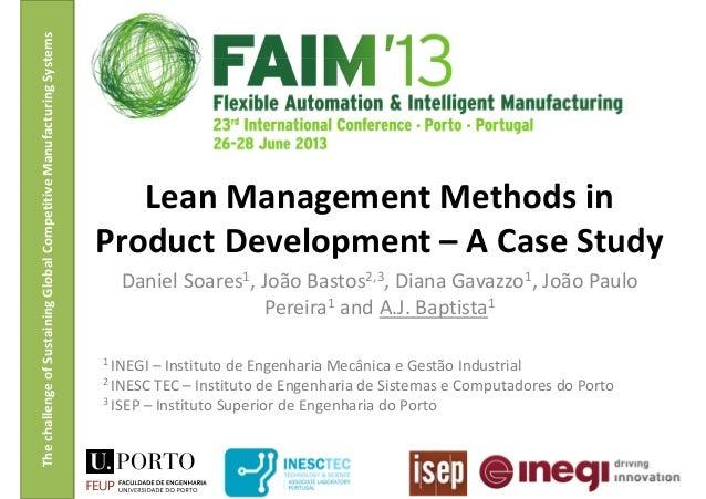 ThechallengeofSustainingGlobalCompetitiveManufacturingSystems Daniel Soares1, João Bastos2,3, Diana Gavazzo1, João Paulo P...