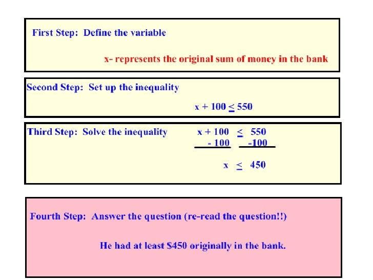 Inequalities Slide 3