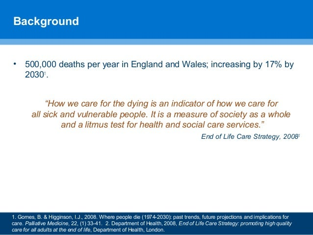 """""""Had he had cancer I'd have been fine"""": inequalities in care provision at the end of life by Emily Moran, Sue Boase, Brooke Swash and Stephen Barclay Slide 2"""