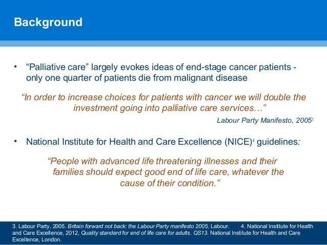 """""""Had he had cancer I'd have been fine"""": inequalities in care provision at the end of life by Emily Moran, Sue Boase, Brooke Swash and Stephen Barclay Slide 3"""