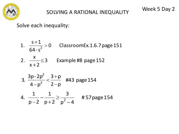 Inequalities Lesson 4