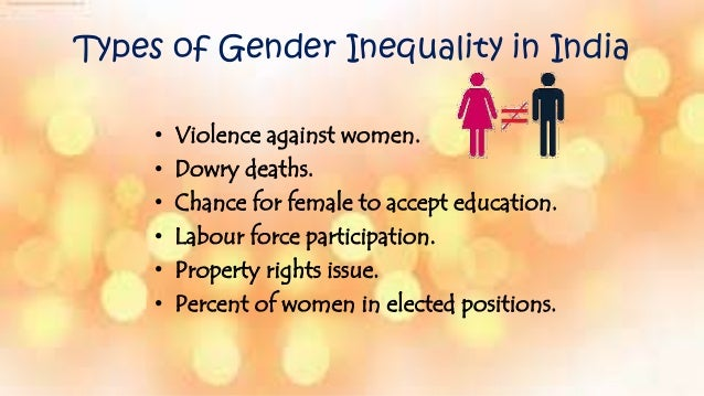 how to stop gender inequality in india