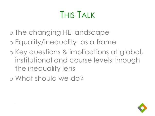Inequality as higher ed goes online Slide 2