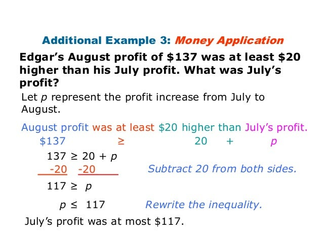 Inequality word problems – Inequalities Word Problems Worksheet