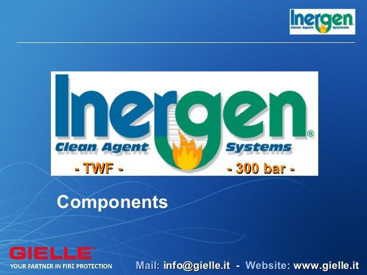 - TWF -                     - 300 bar -Components           Mail: info@gielle.it - Website: www.gielle.it
