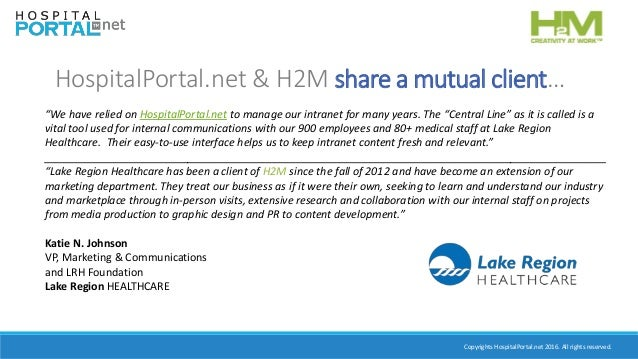 Best Practices in Internal Communication Using Your Hospital Intranet Slide 3