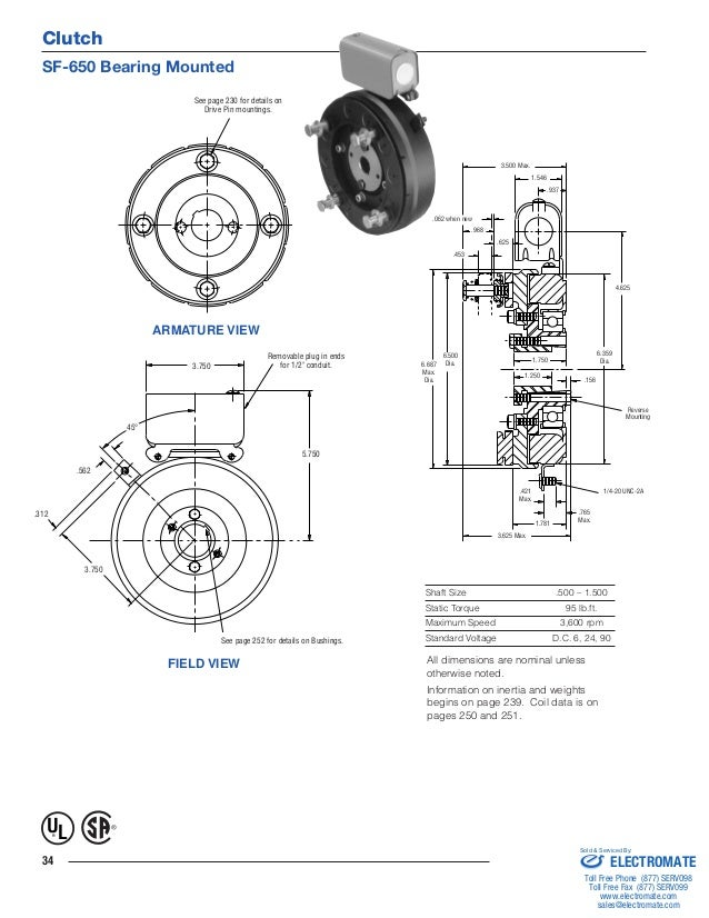 Inertia dynamics sf650b_specsheet