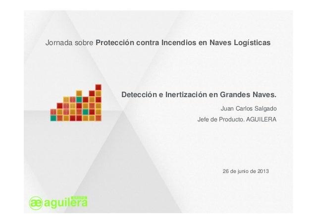 Jornada sobre Protección contra Incendios en Naves Logísticas 26 de junio de 2013 Detección e Inertización en Grandes Nave...