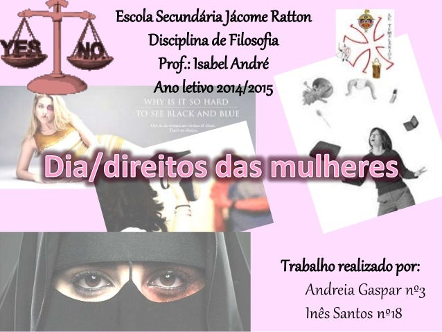 Escola Secundária Jácome Ratton Disciplina de Filosofia Prof.: Isabel André Ano letivo 2014/2015 Trabalho realizado por: A...