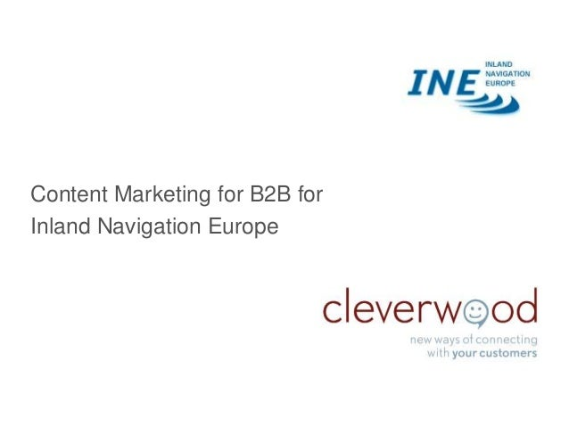 Content Marketing for B2B for Inland Navigation Europe