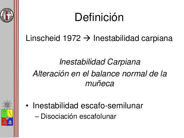 Definición • Clasificación segín tiempo de evolución: CATEGORÍA TIEMPO AGUDA < 1 SEMANA SUBAGUDA 1 – 6 SEMANAS CRÓNICA > 6...