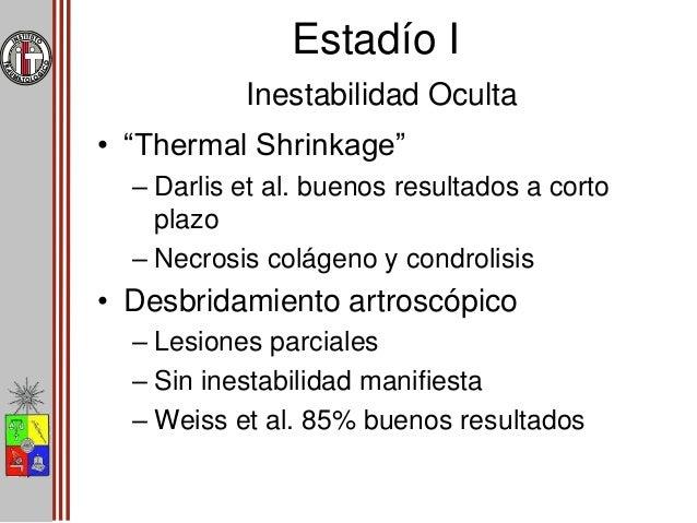 Estadío II Inestabilidad dinámica con potencial de reparación • Reparación de ambos planos – Coronal  Reparación ligament...