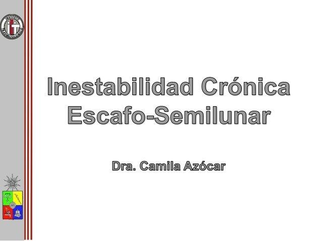 Inestabilidad crónica escafosemilunar