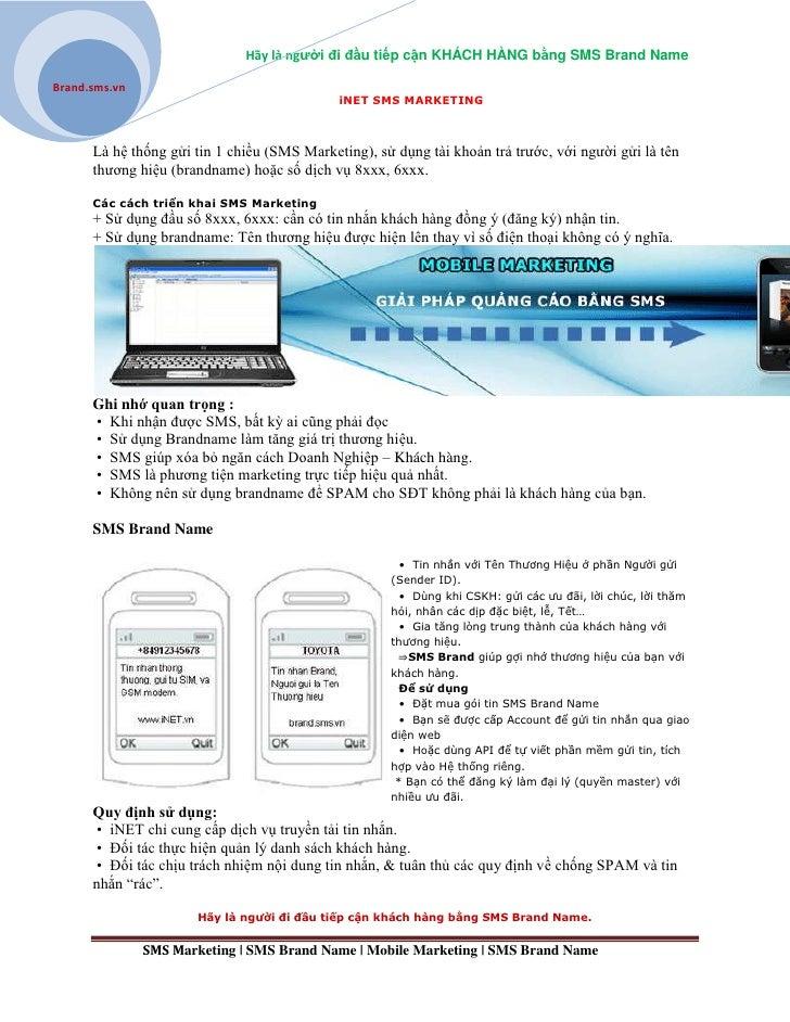 Hãy là người đi đầu tiếp cận KHÁCH HÀNG bằng SMS Brand NameBrand.sms.vn                                             iNET S...