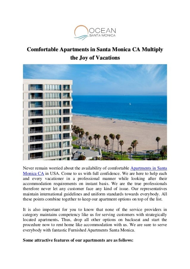Inexpensive Furnished Apartments in Santa Monica for Rent
