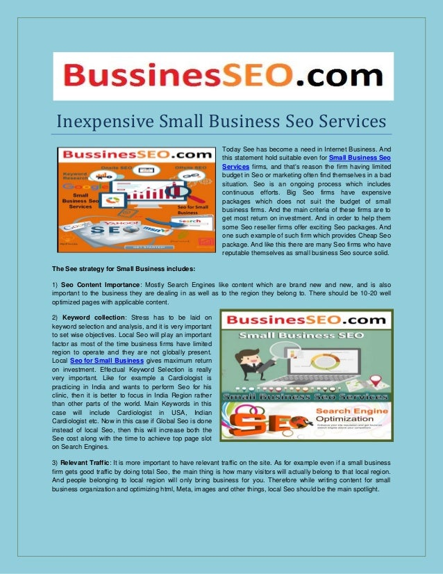 Inexpensive small business seo services