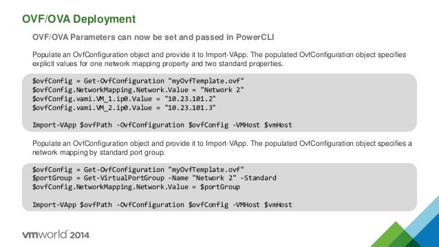 VMworld Europe 2014: Taking Reporting and Command Line