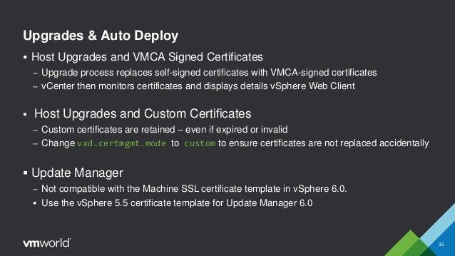 Vmworld 2015 vmware vsphere certificate management for mere mortals 34 vmware vsphere 60 35 yadclub Choice Image