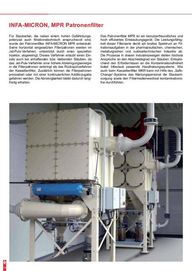 Für Staubarten, die neben einem hohen Gefährdungs-potenzial  auch filtrationstechnisch anspruchsvoll sind,  wurde der Patr...