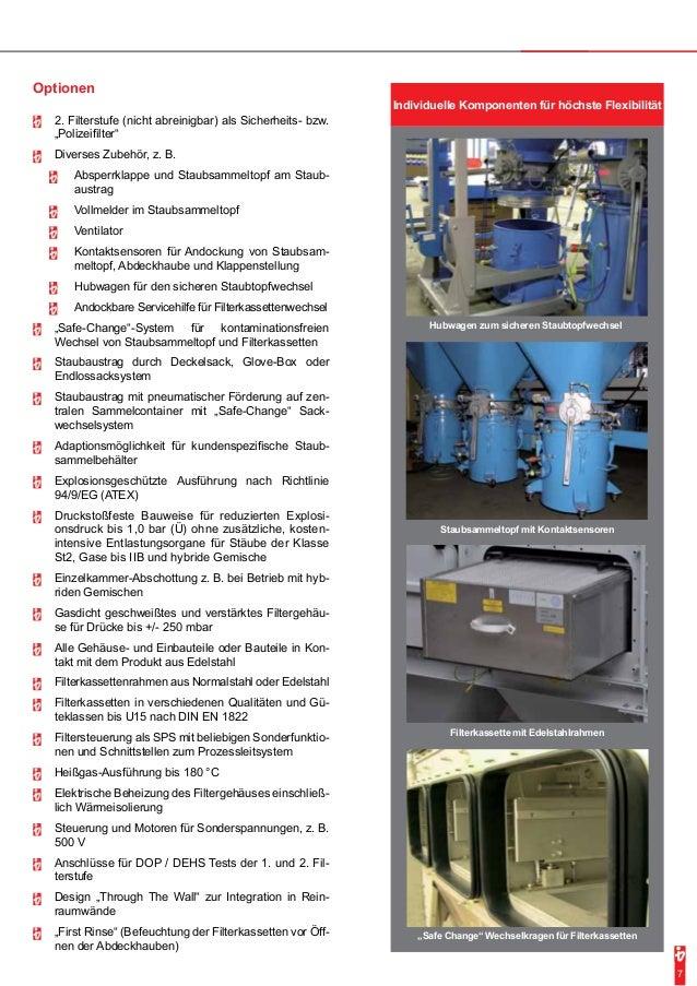 7  Individuelle Komponenten für höchste Flexibilität  Hubwagen zum sicheren Staubtopfwechsel  Staubsammeltopf mit Kontakts...