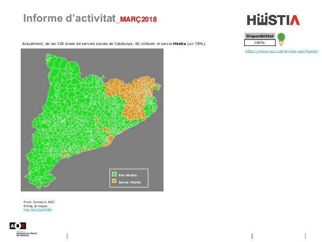 Informe d'activitat_MARÇ2018 https://www.aoc.cat/serveis-aoc/hestia/ Actualment, de les 105 àrees de serveis socials de Ca...