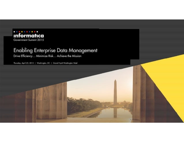 Keys to Master Data Management (MDM) Effectiveness in the Federal Government Sector April 23, 2015