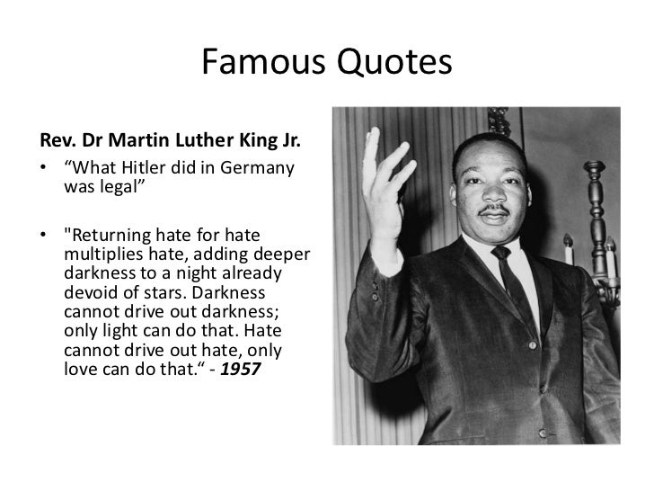 Mlk Quotes Returning Hate For Hate