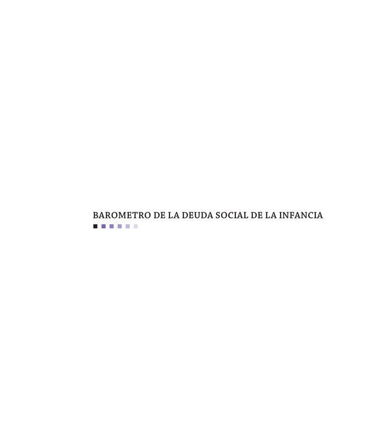 BAROMETRO DE LA DEUDA SOCIAL DE LA INFANCIA