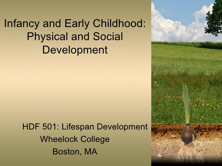 Infancy and Early Childhood: Physical and Social Development HDF 501: Lifespan Development Wheelock College Boston, MA
