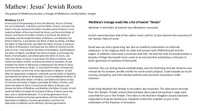 List Of Hebrew Roots