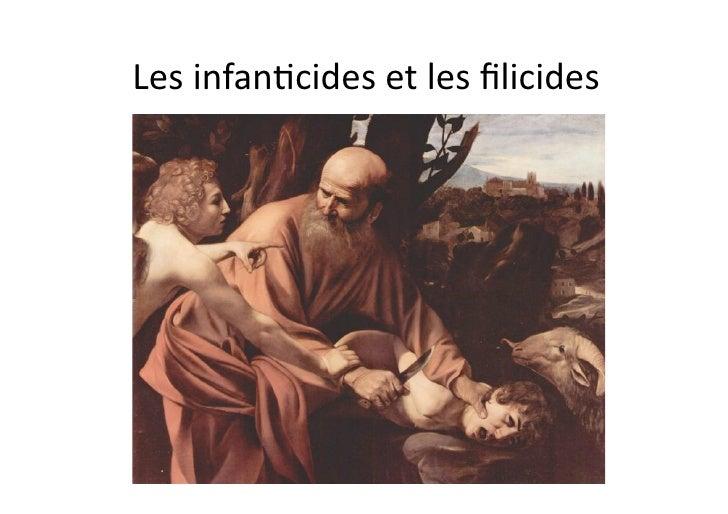Lesinfan)cidesetlesfilicides