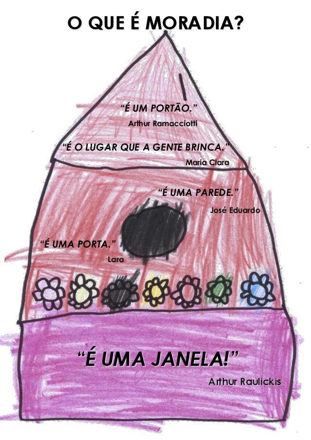 """""""É O LUGAR QUE A GENTE BRINCA."""" Maria Clara """"É UM PORTÃO."""" Arthur Ramacciotti """"É UMA PORTA."""" Lara """"É UMA PAREDE."""" José Edu..."""