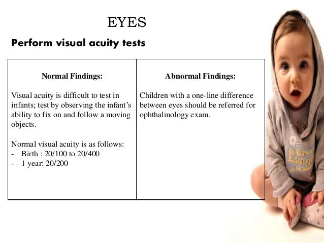 normal assessment findings of a toddler