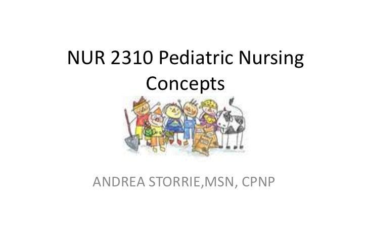 NUR 2310 Pediatric Nursing       Concepts  ANDREA STORRIE,MSN, CPNP