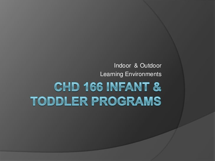 CHD 166 Infant & Toddler Programs<br />Indoor  & Outdoor <br />Learning Environments<br />