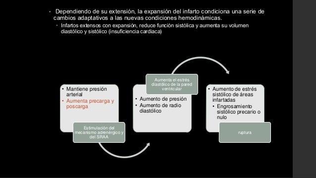• Dependiendo de su extensión, la expansión del infarto condiciona una serie decambios adaptativos a las nuevas condicione...